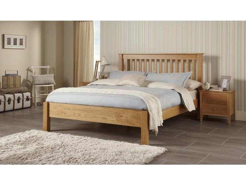 Link Contemporary Solid Oak Bed Frame