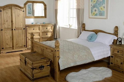 Chunky Mexican Pine Bed Frame