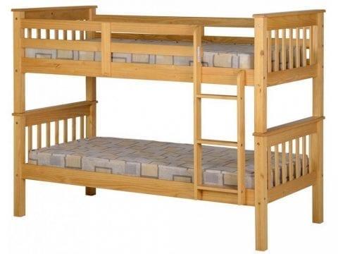 Neptune Shaker Style Pine Bunk Beds