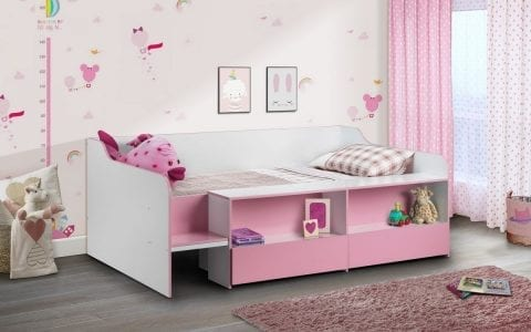 Stella Low sleeper in pink and white -0