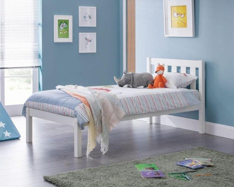 Luna White Bedframe-0