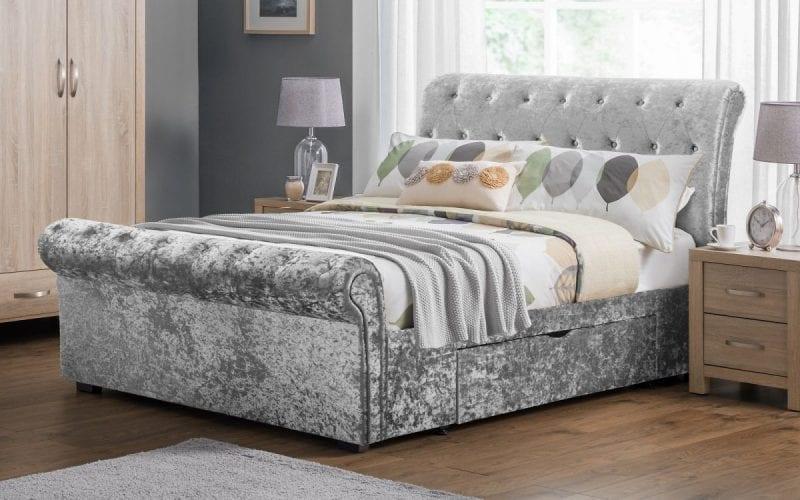Veronica Sleigh Storage Bed-0