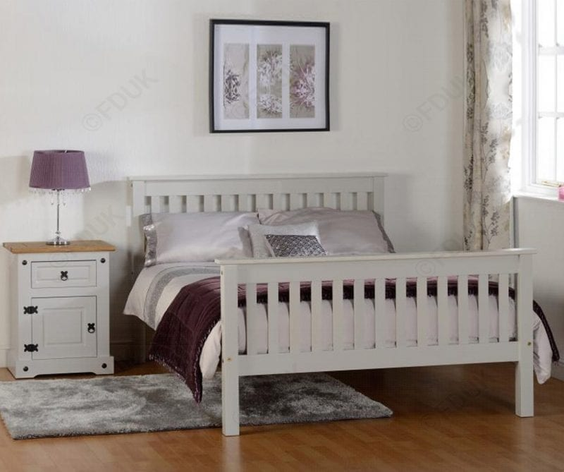 Shaker bed frame in grey -0