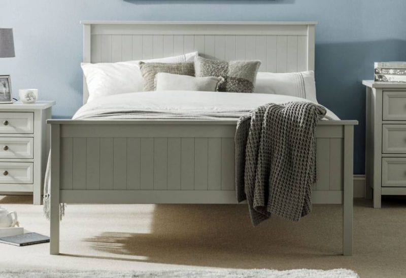 The Penzance bed frame in dove grey -0