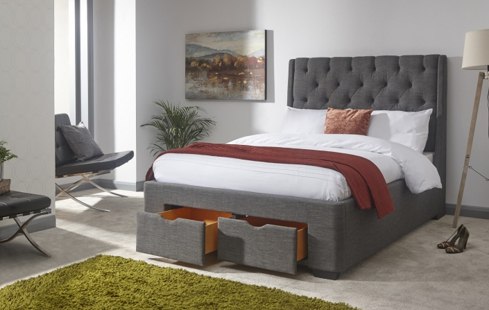 Coven drawer bed frame -0