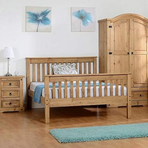 Shaker Bed Frame In Distressed Wax-0