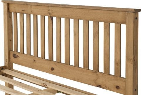 Shaker Bed Frame In Distressed Wax-4325