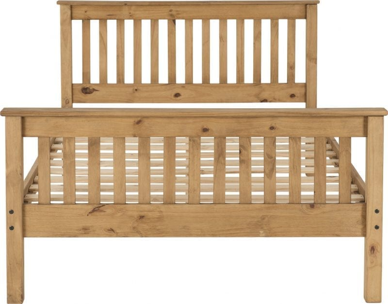 Shaker Bed Frame In Distressed Wax-4326