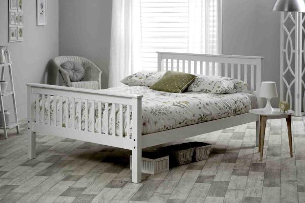 Shaker Bed Frame In White -0