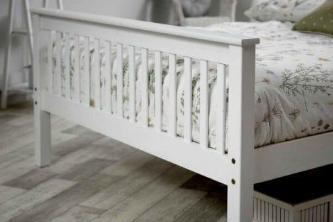 Shaker Bed Frame In White -3589