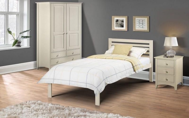 SLO Off White Bedframe -0
