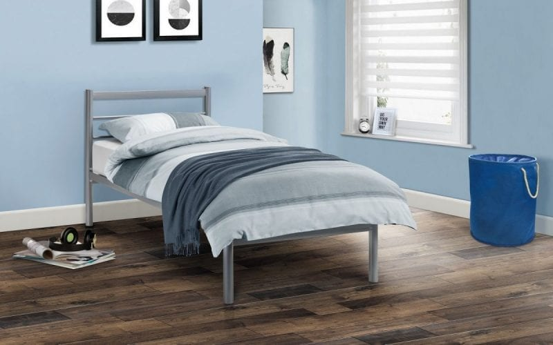 Simple Aluminium Grey Bedframe -0