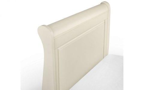 Off White Wooden Sleigh Bedframe -3815