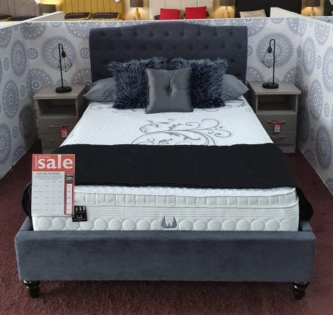 Aurora Fabric Sleigh in Dark grey LB60 -0