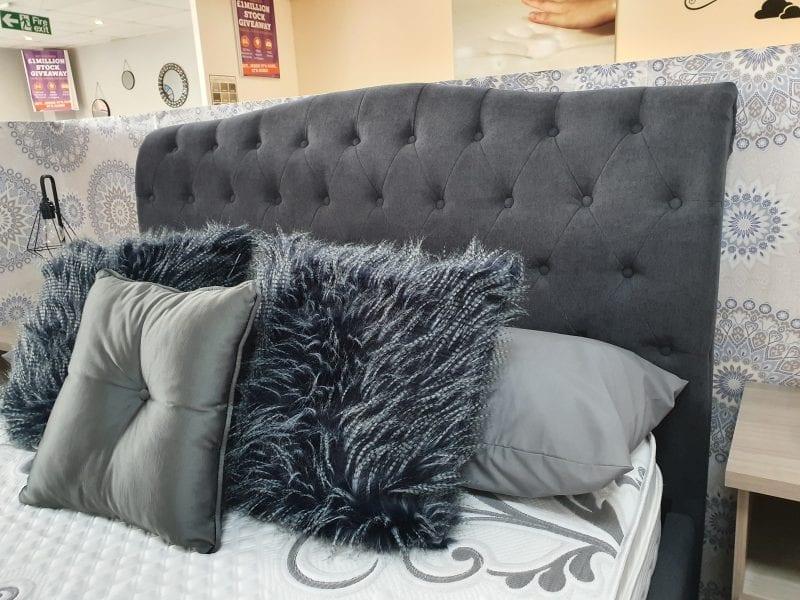 Aurora Fabric Sleigh in Dark grey LB60 -3675