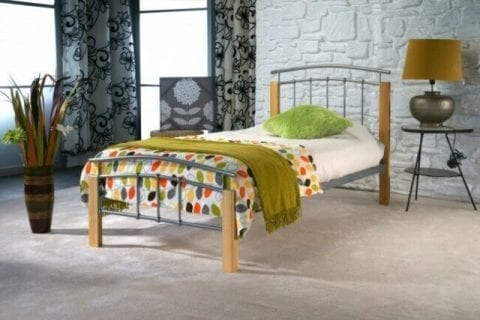 Aztec Bedframe metal and oak-0