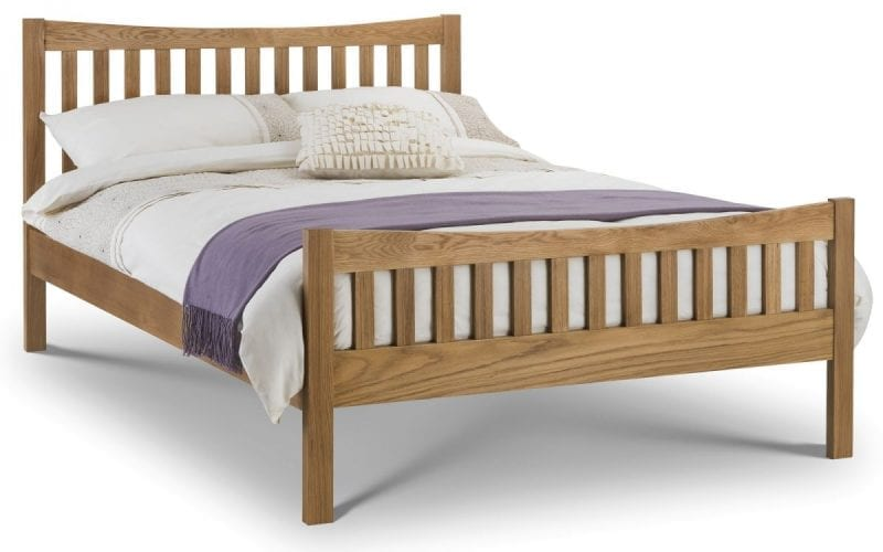 Curved Solid Oak Bedframe -0