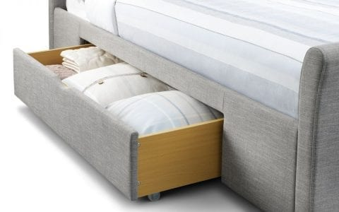 CAP 2 Drawer bedframe in grey linen -3778