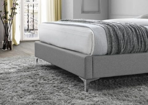 LB59 Fabric bedframe in grey -3738