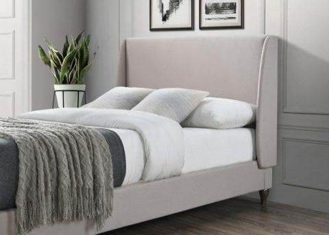 LB59 fabric bedframe in stone-3747