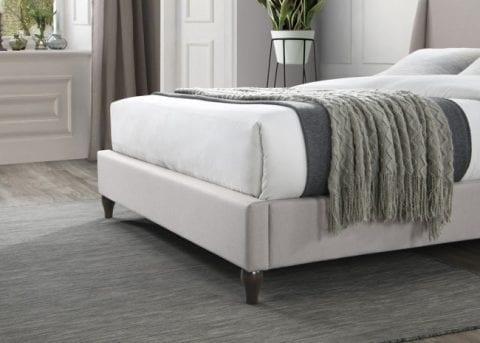 LB59 fabric bedframe in stone-3746
