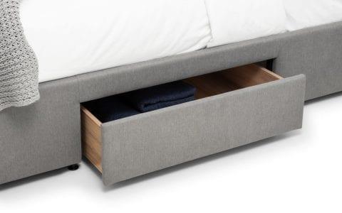 FUL 4 Drawer grey linen bedframe -3777