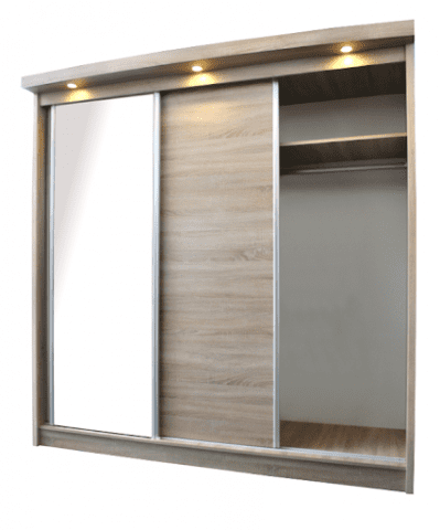 The Loft Sliding Wardrobe with led lights -3749