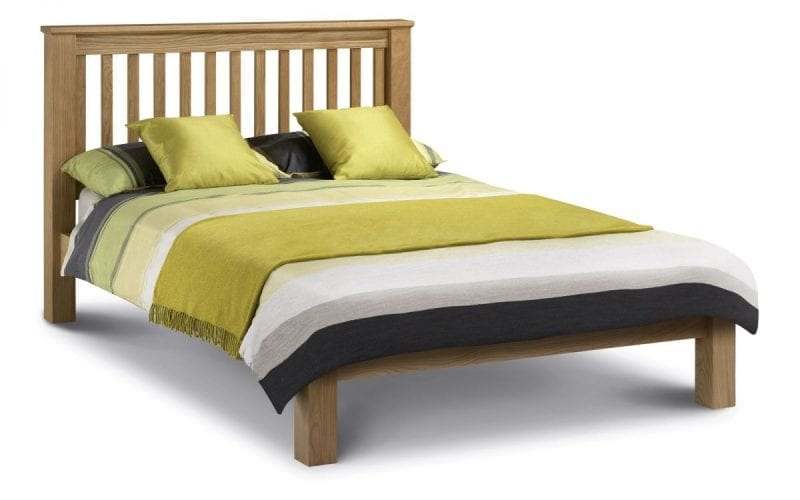 Lola Chunky Oak bedframe low foot -0