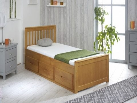 Mission Drawer Bed Honey Pine -0