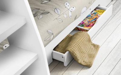 Orion bunk bed in Brilliant White -3709