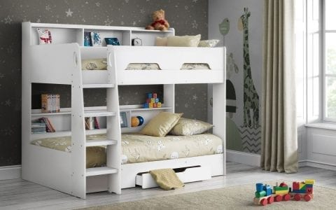 Orion bunk bed in Brilliant White -0