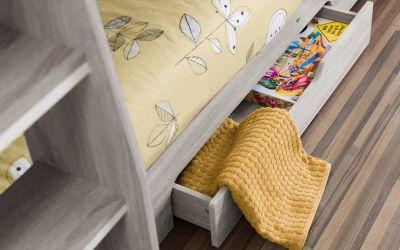 Orion bunk bed in grey oak -3701