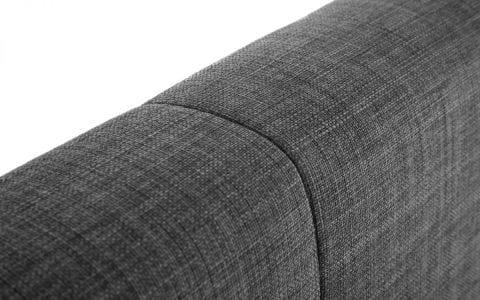 SOR High headboard bedframe in grey slate -3790