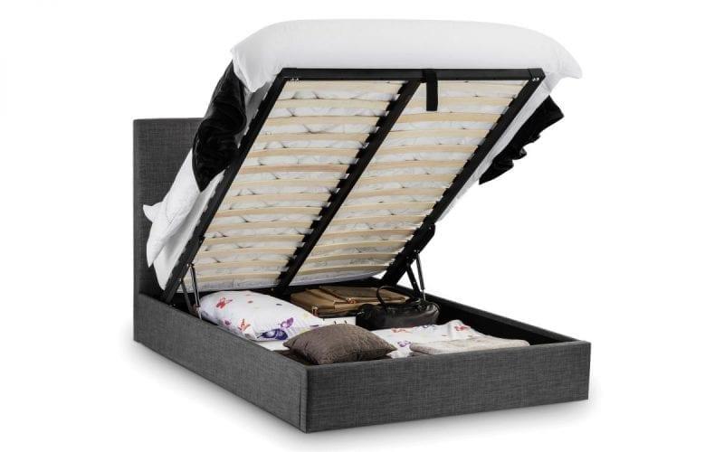 SOR Ottoman storage bedframe in grey slate -3793