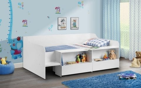 Stella Low sleeper in all White -0
