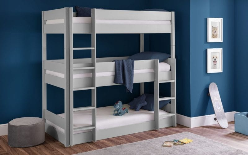 Triple Bunk in light grey -0