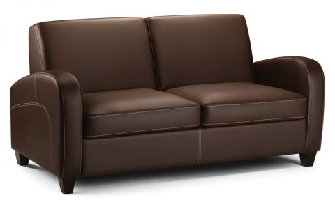 Vivianne Sofa bed in Brown Faux Leather -4200