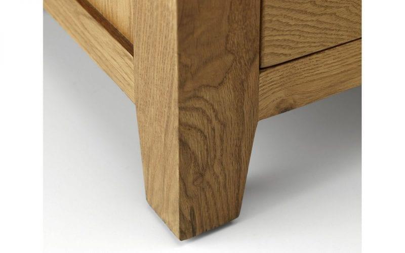 Lola Oak 3 Drawer Bedside -3871