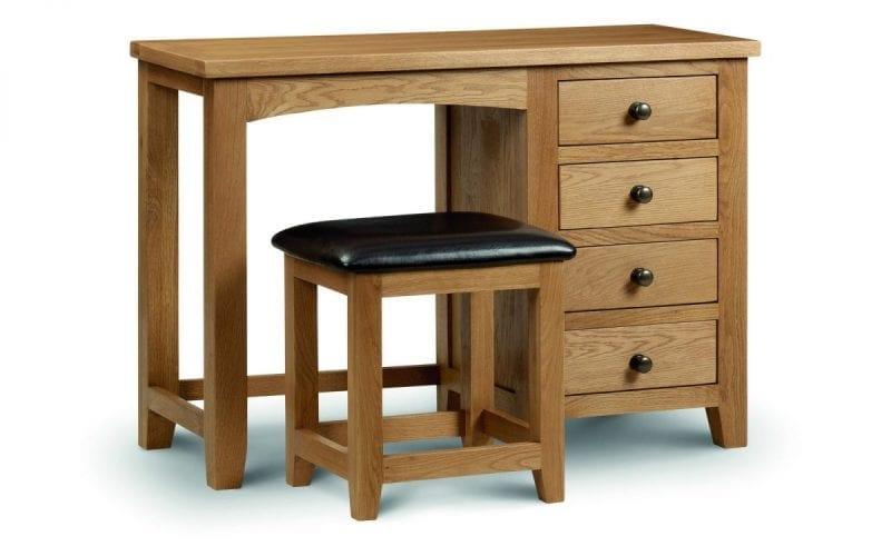 Lola Oak Single Pedestal Dressing Table -0