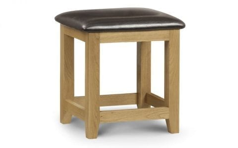 Lola Oak Dressing Table Stool -0
