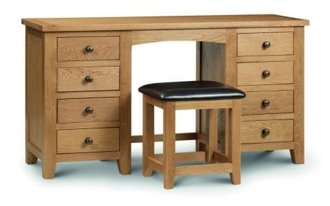 Lola Oak Dressing Table Stool -3897