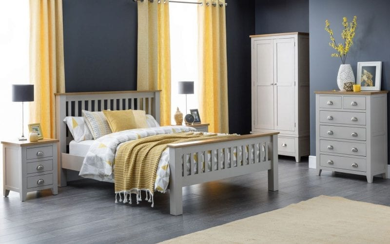 Richmond Grey and Oak 3 Drawer Bedside -3967