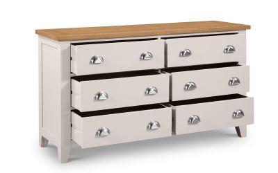 Richmond Grey and Oak 6 Drawer Chest -3980