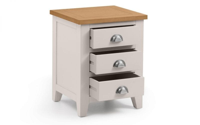 Richmond Grey and Oak 3 Drawer Bedside -3969