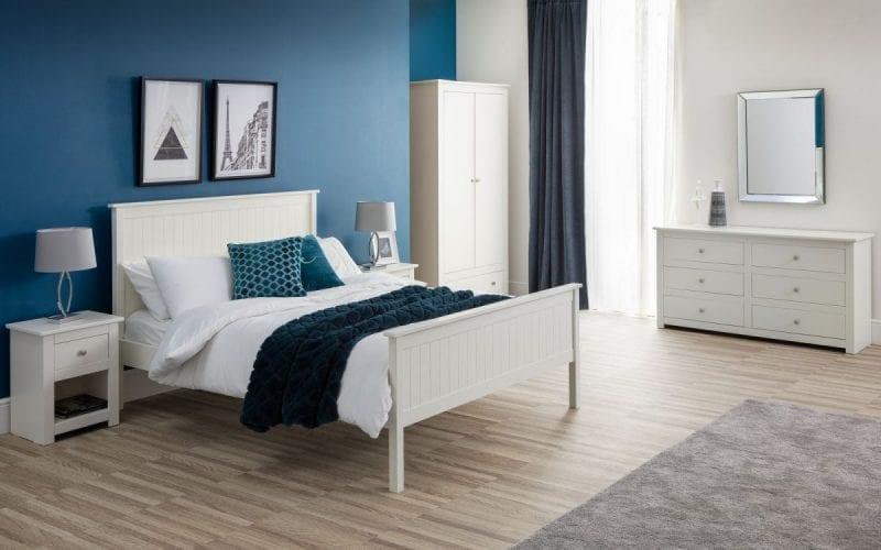 Radley 1 Drawer Bedside in White -3999