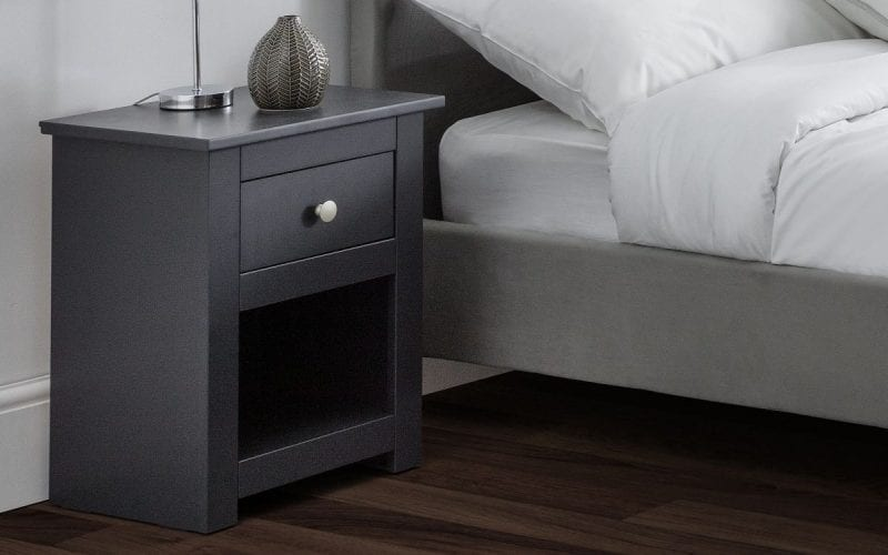 Radley 1 Drawer Bedside in Anthracite -4006