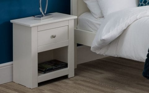 Radley 1 Drawer Bedside in White -4000