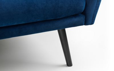 Affinity Plush Royal Blue Sofa Bed -4203