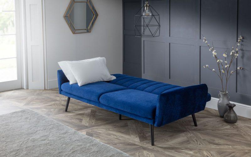 Affinity Plush Royal Blue Sofa Bed -4204