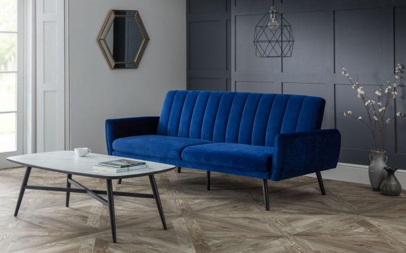 Affinity Plush Royal Blue Sofa Bed -0